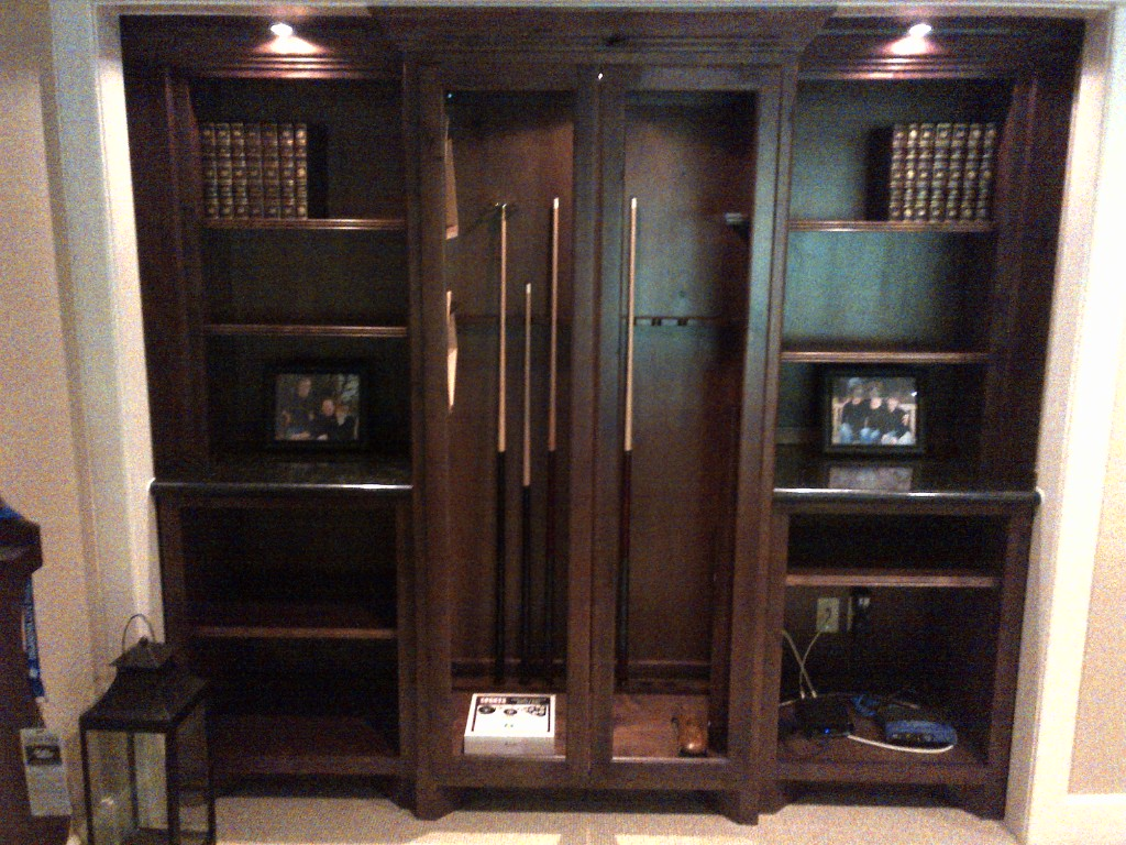 Gallery LWI Custom Cabinets - Pool table cabinet